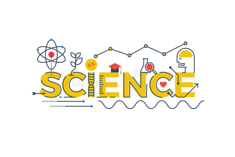 Science word illustration royalty free stock image