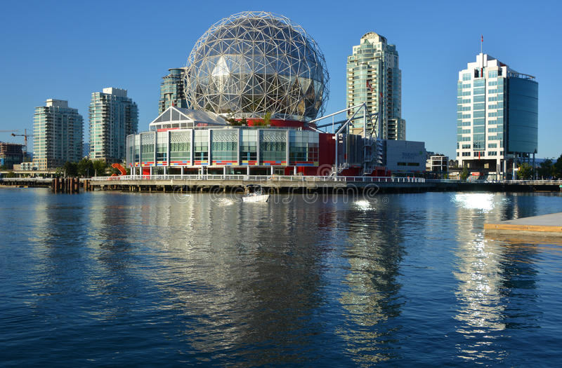 Science World. VANCOUVER BC CANADA JUNE 15 2015: Science World at Telus World of Science. It has many interactive science exhibits and displays, and popular stock photography