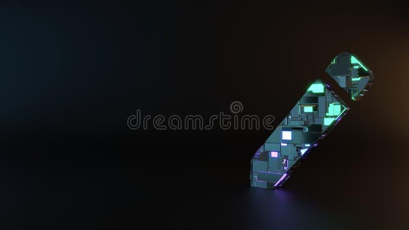 sciencemetallsymbol av att skapa den nya blyertspennaknappsymbolen för att framföra fotografering för bildbyråer