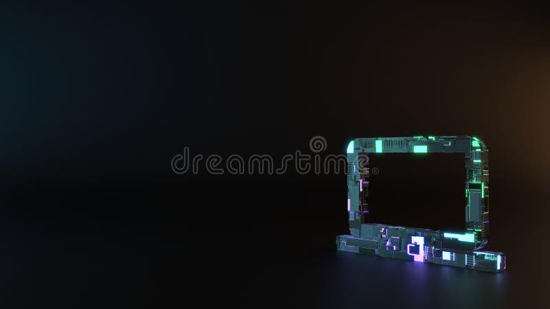 sciencemetallsymbol av datorsymbolen att framföra fotografering för bildbyråer