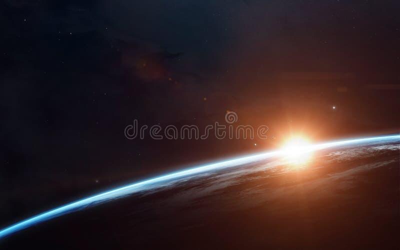 Scienceutrymmetapet, incredibly härliga planeter, galaxer Beståndsdelar av denna avbildar möblerat av NASA royaltyfri fotografi