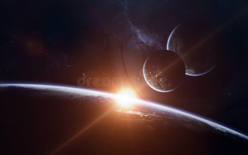 Scienceutrymmetapet, incredibly härliga planeter, galaxer Beståndsdelar av denna avbildar möblerat av NASA arkivbild