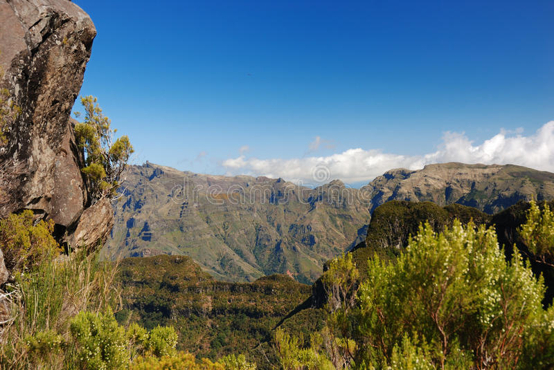 Scienic view, madeira, portugal stock photography