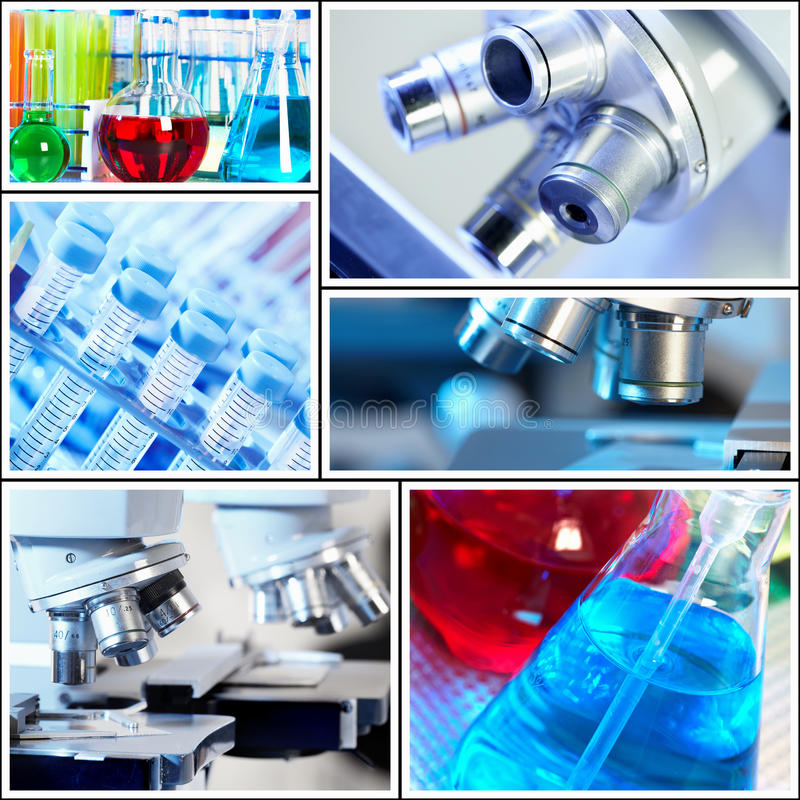 Scientific background collage. stock photography