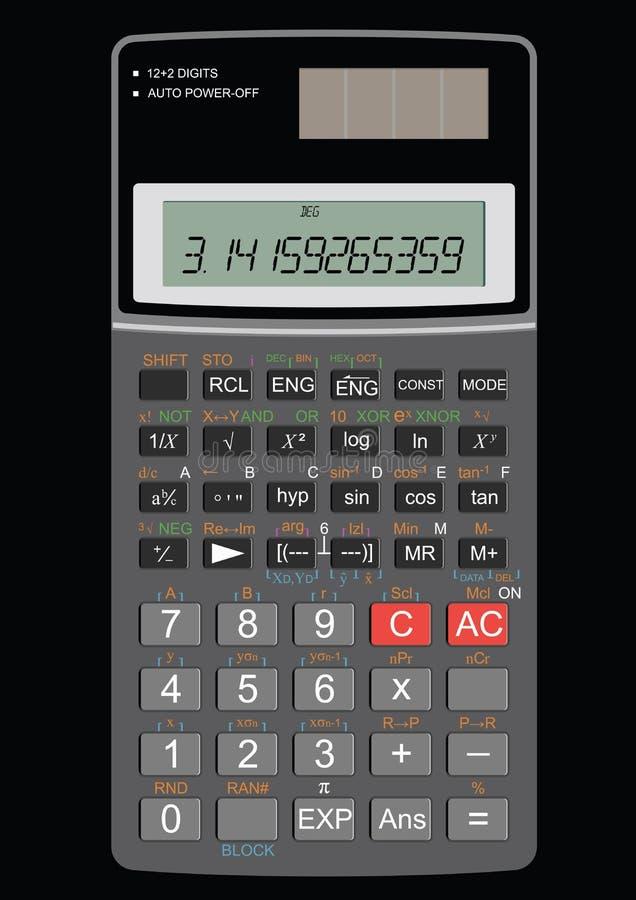 Scientific calculator stock illustration