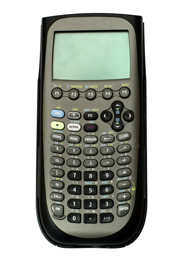 Download Scientific Calculator (w/ Path) Stock Photo - Image of large, office: 6803136