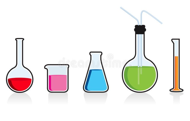 Scientific chemistry set. vector illustration