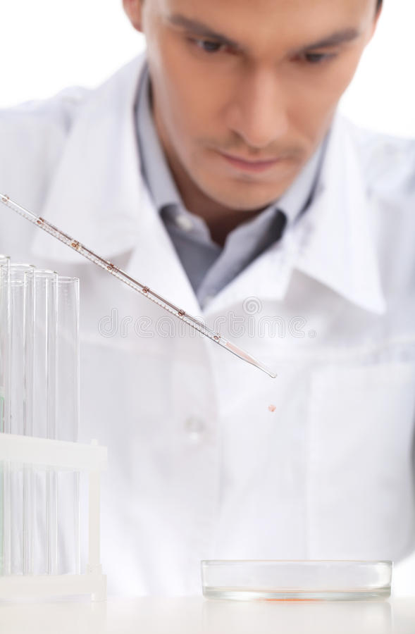 Download Scientific experiment. stock photo. Image of person, liquid - 33054554