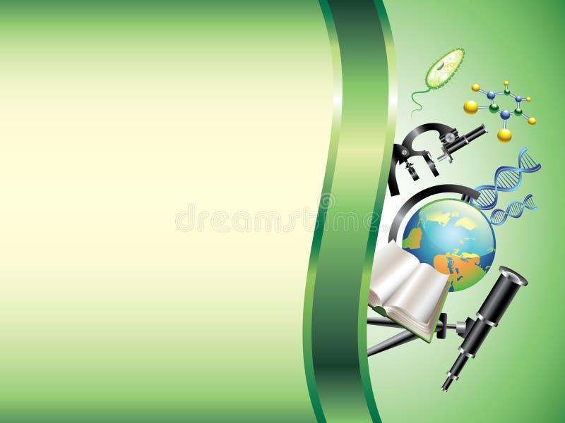 Scientific horizontal background vector illustration