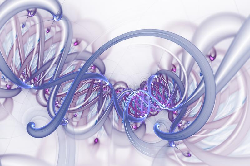 Genetic engineering and gene manipulation concept. DNA helix molecules and chromosomes, DNA strand, molecule or atom, neurons vector illustration