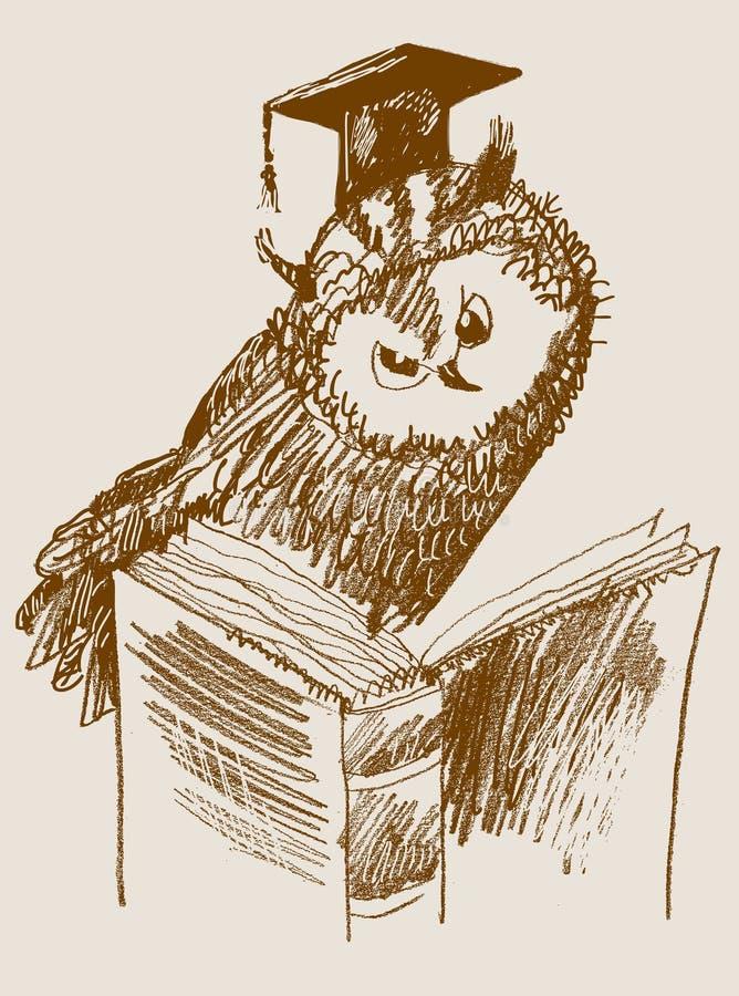 Scientific owl. vector