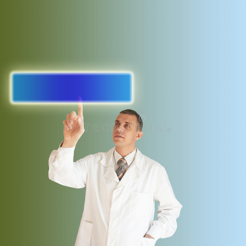 Scientific research. In the field of the newest information technologies royalty free stock images