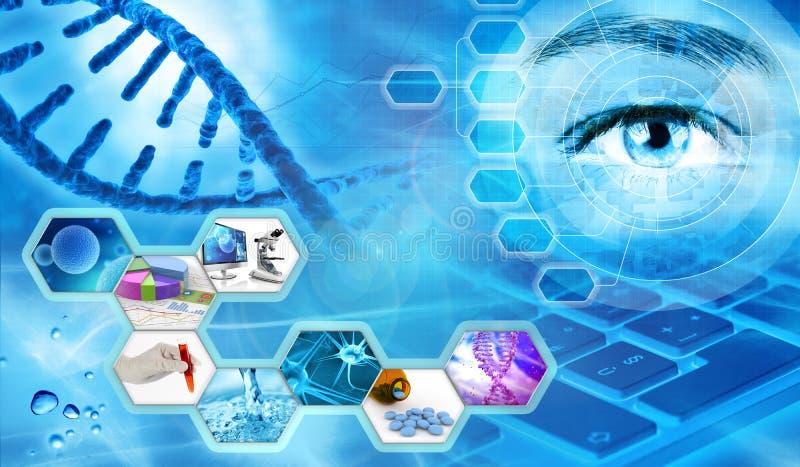 Scientific research concept. Scientific research laboratory concept background 3d illustration vector illustration