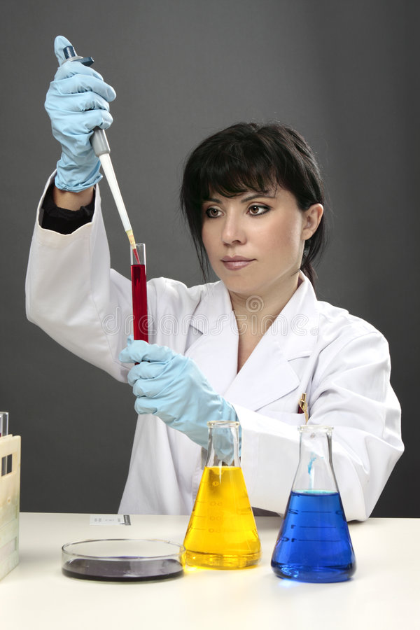 Scientific research test tube science stock photo