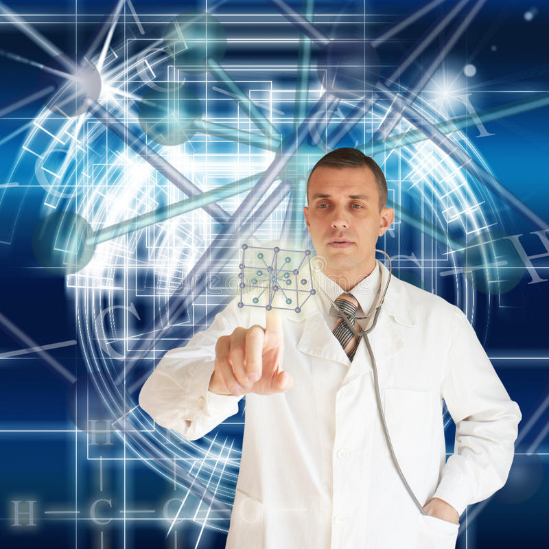 Scientific researches stock images
