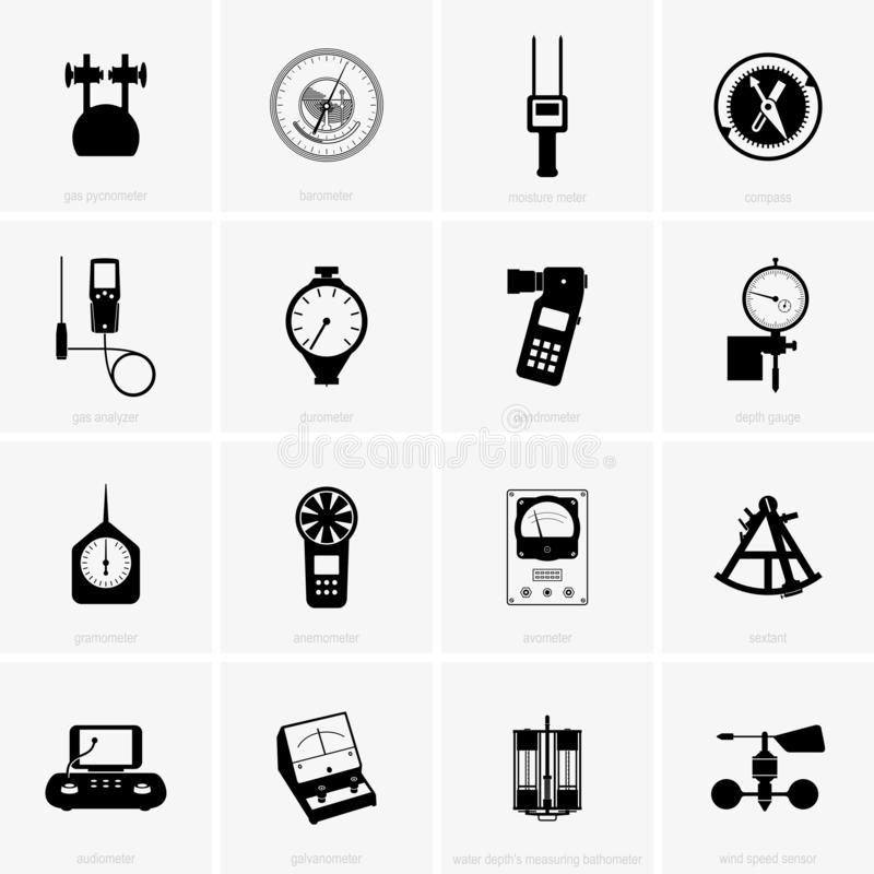 Scientific and technical measuring devices. Available in high-resolution and several sizes to fit the needs of your project royalty free illustration