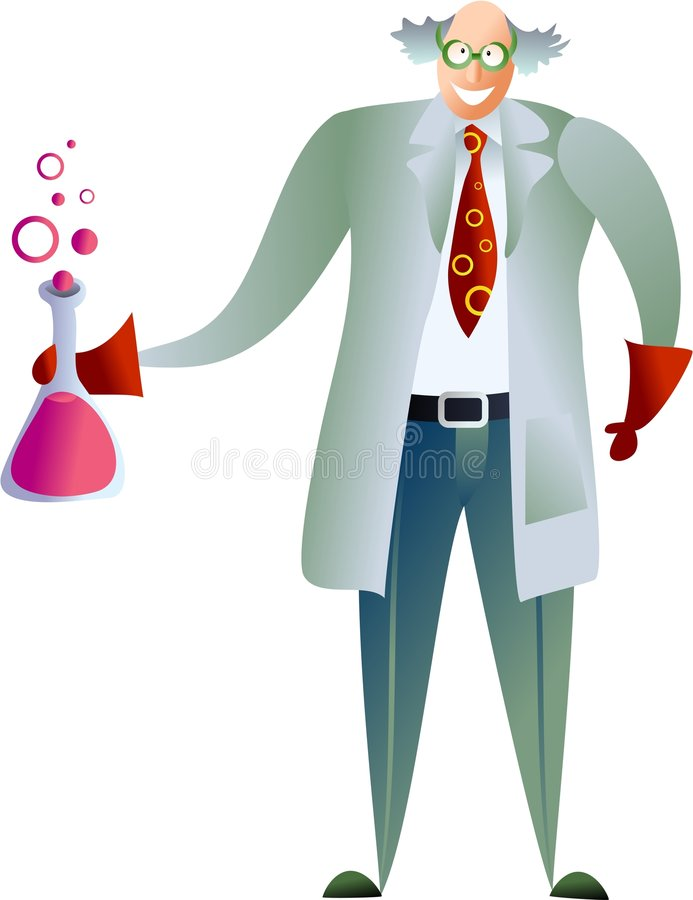 Scientifique illustration stock