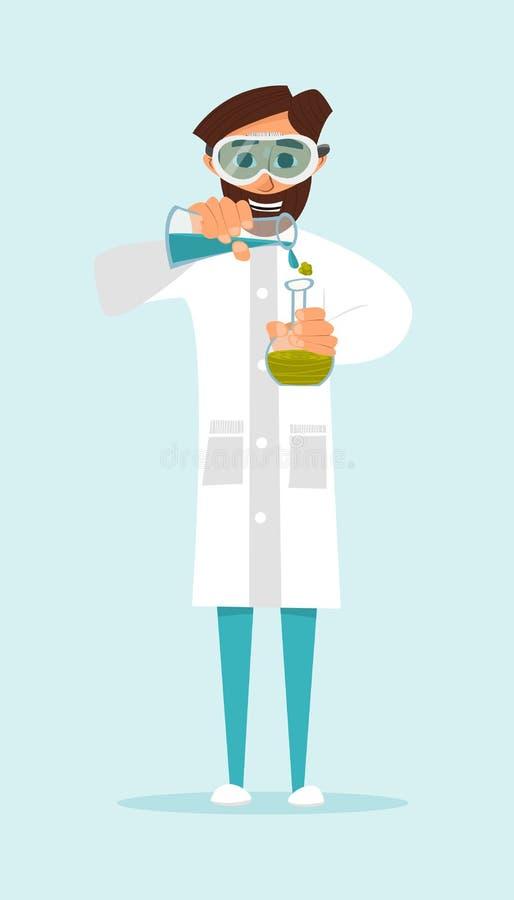 Download Scientifique De Recherches Entreprenant Une Expérience Avec Des Liquides La Nature De La Conception Vecteur Illustration Stock - Illustration du caractère, laboratoire: 77150503