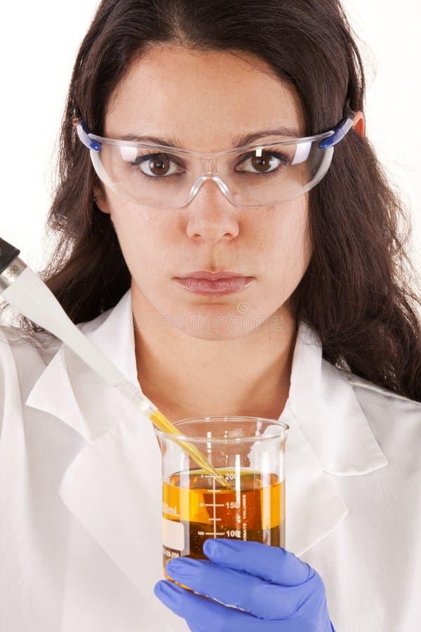 Scientifique féminin de recherches photo libre de droits