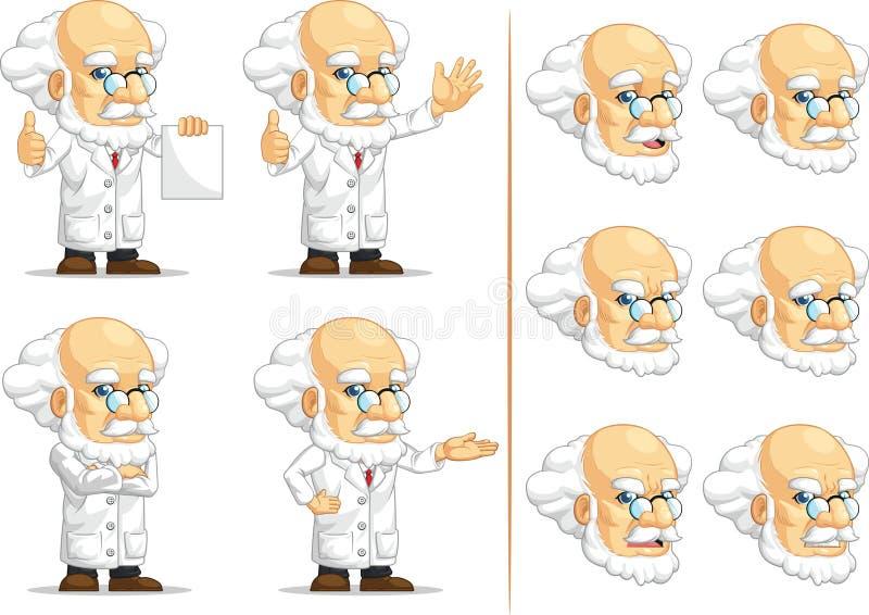 Scientifique ou professeur Customizable Mascot 13 illustration de vecteur