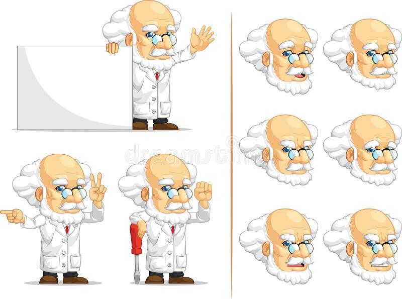 Scientifique ou professeur Customizable Mascot 5 illustration stock