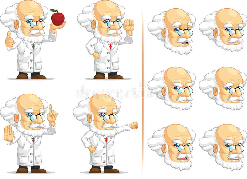 Scientifique ou professeur Customizable Mascot 9 illustration stock