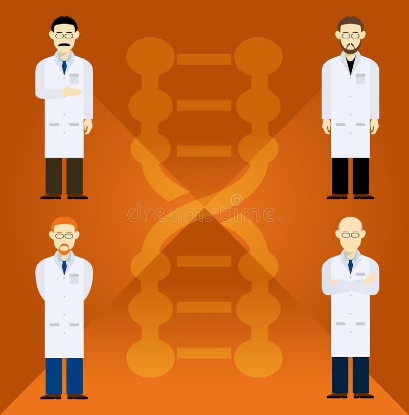 scientifiques illustration libre de droits