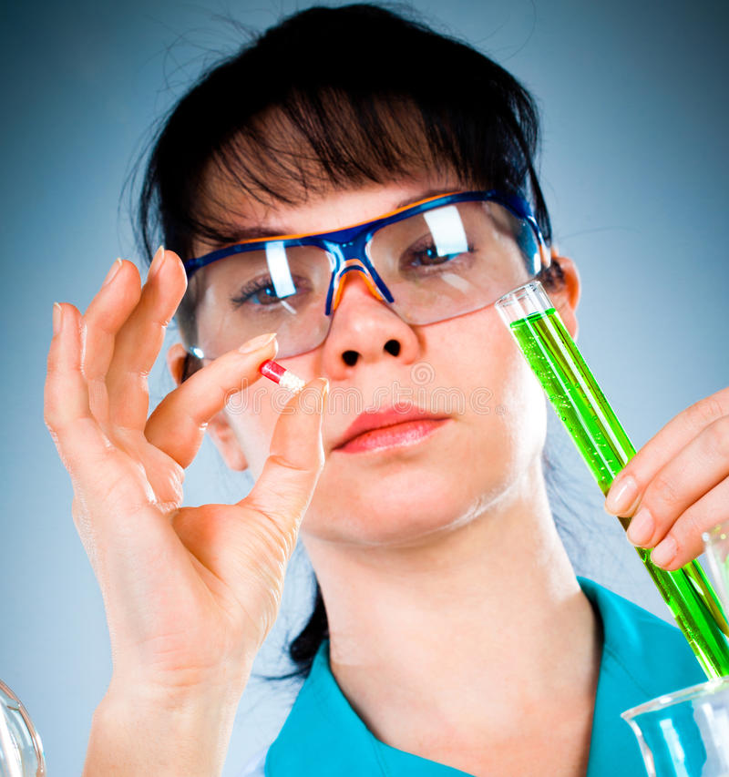 Download Scientist stock photo. Image of medicine, bottle, experiment - 23668882