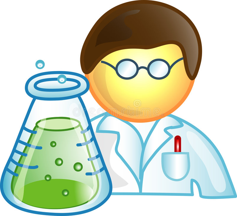 Scientist Career Icon Or Symbo Royalty Free Stock Image