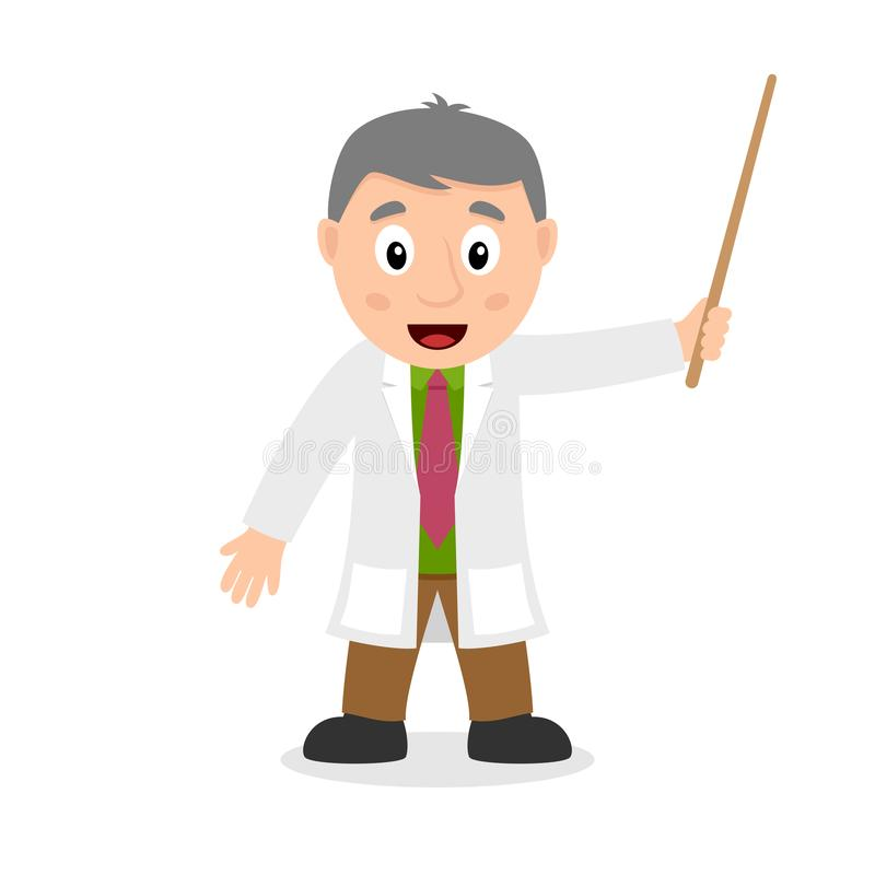 Free Scientist Cartoon Character Holding A Wand Stock Photos - 135401363