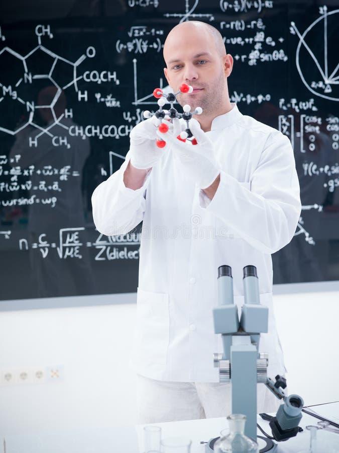 Scientist In  Chemistry Lab Stock Photos