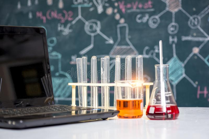Scientist concept, equipment and science experiments royalty free stock image