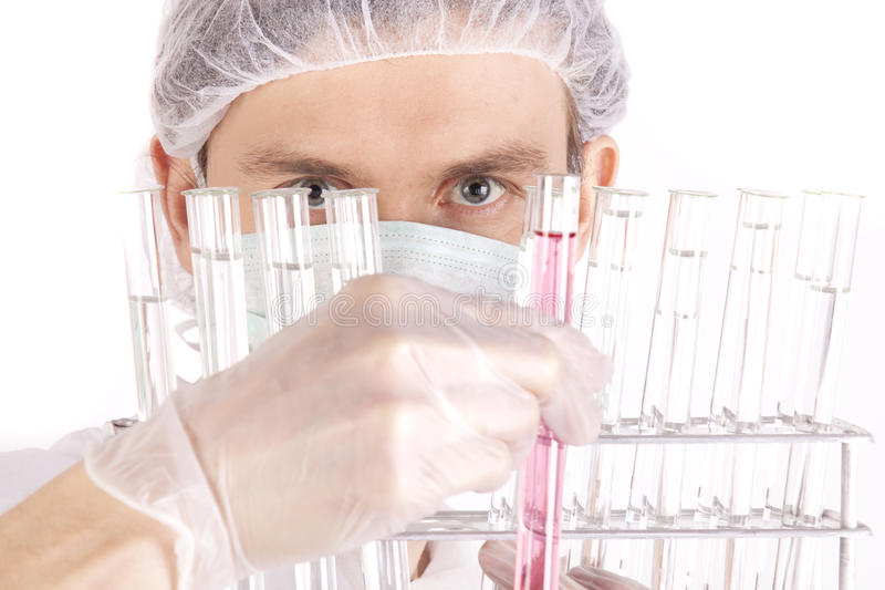 Download Scientist Experimenting stock photo. Image of genes, examing - 12468458