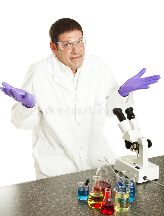 Scientist Gives Up stock photo