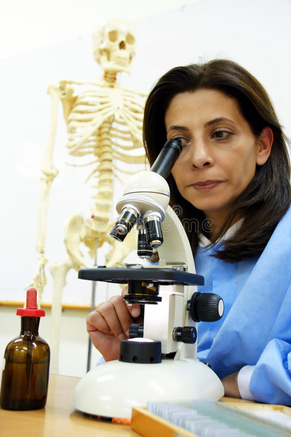 Scientist at her lab