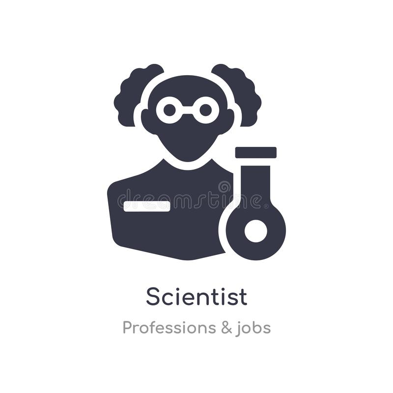 Scientist icon. isolated scientist icon vector illustration from professions & jobs collection. editable sing symbol can be use. For web site and mobile app stock illustration