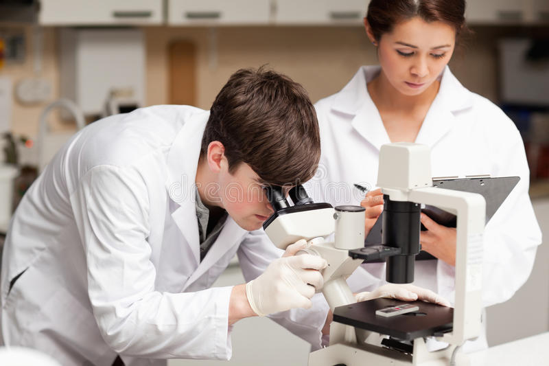 Download Scientist Looking In A Microscope Stock Image - Image: 21147433