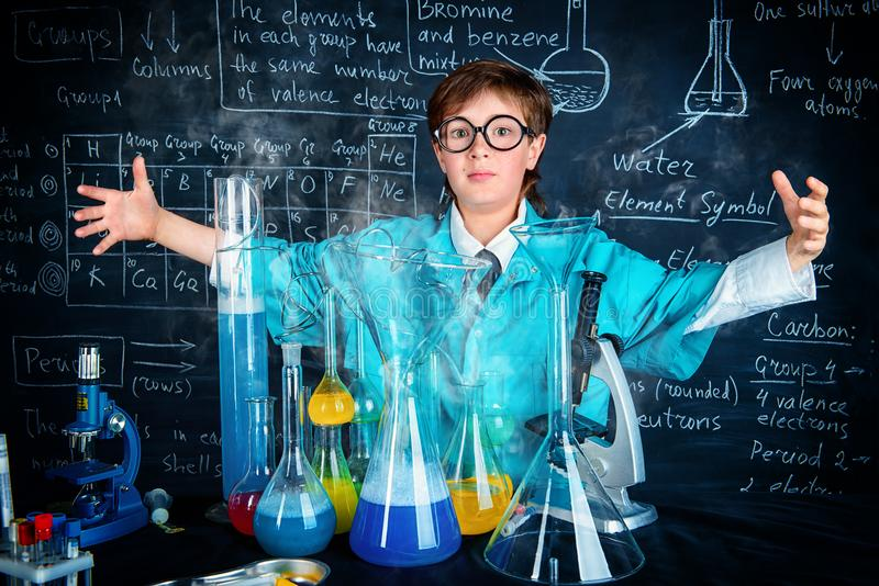 Scientist making experiments stock image