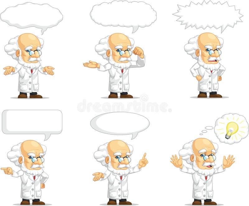 Scientist or Professor Customizable Mascot 15 vector illustration