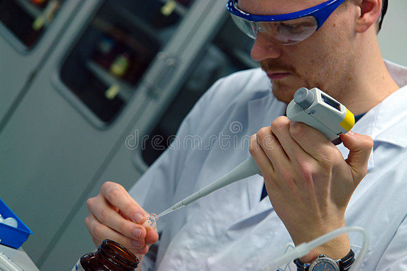 Scientist professor experimenting royalty free stock image