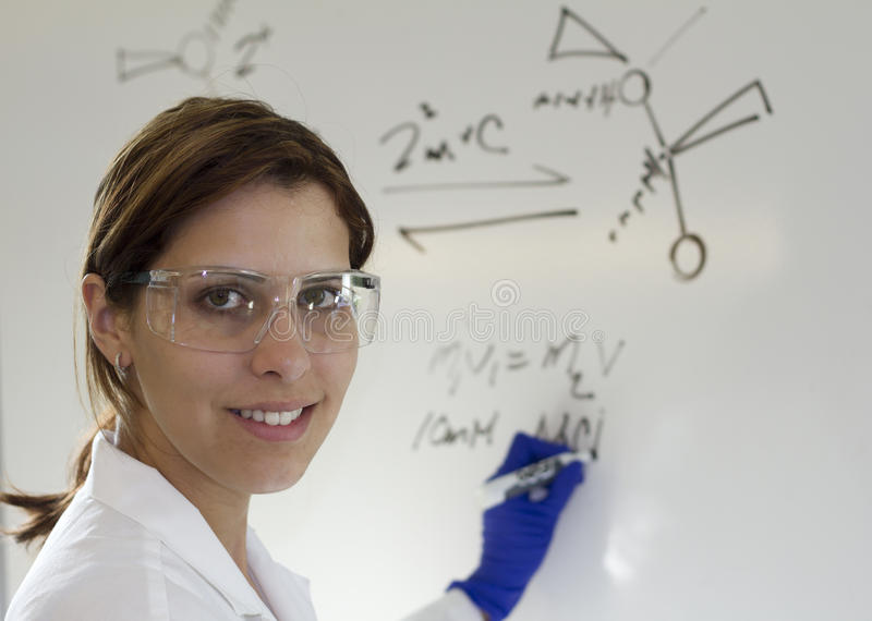 Scientist teaching royalty free stock images