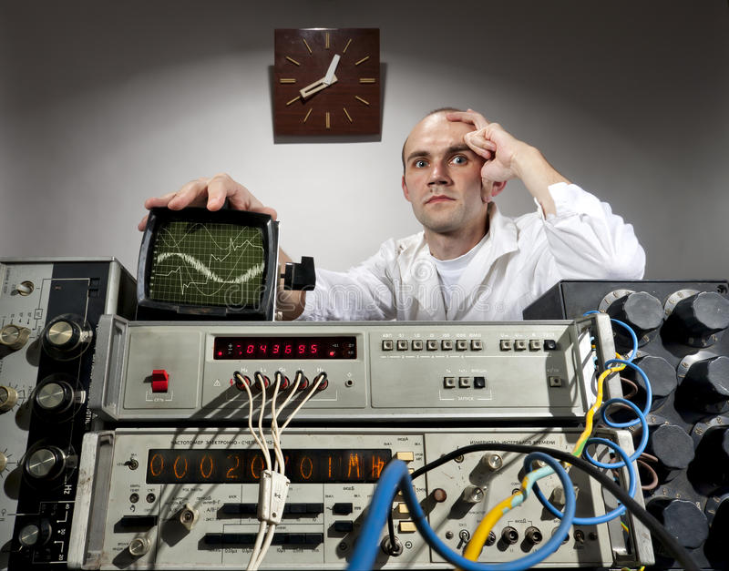 Download Scientist At Vintage Laboratory Stock Image - Image: 20278659