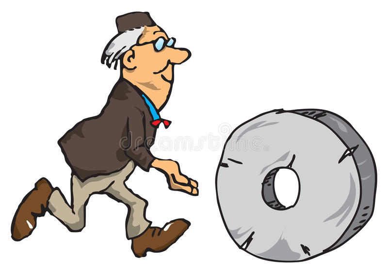Download Scientist With The Wheel Royalty Free Stock Photos - Image: 22306788