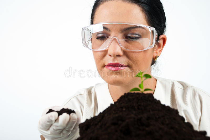 Scientist woman royalty free stock images