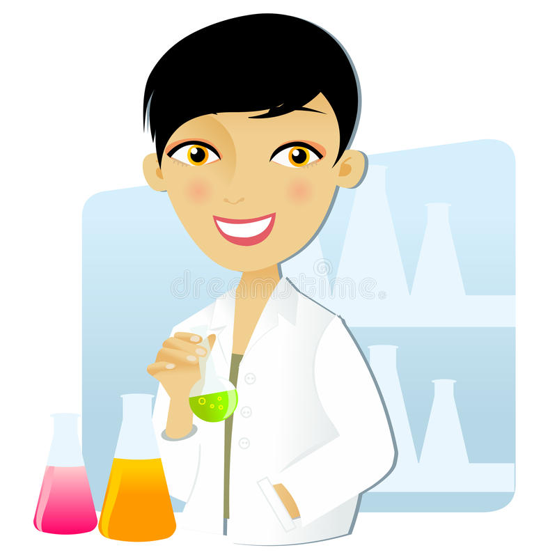 Scientist woman royalty free illustration