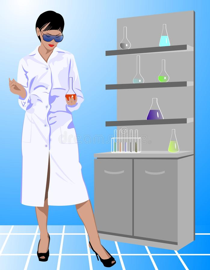 Download Scientist woman stock vector. Image of chemist, glassware - 27834675