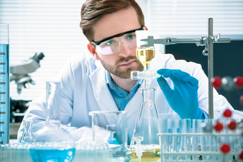 Scientist working royalty free stock photos