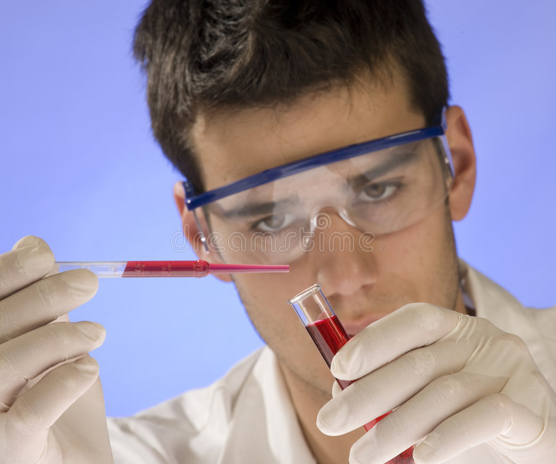 Scientist working in a laboratory stock image