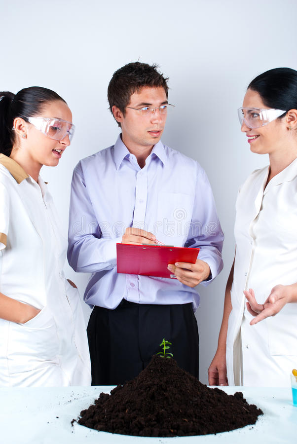 Download Scientists Having Conversation Stock Photo - Image: 15026340