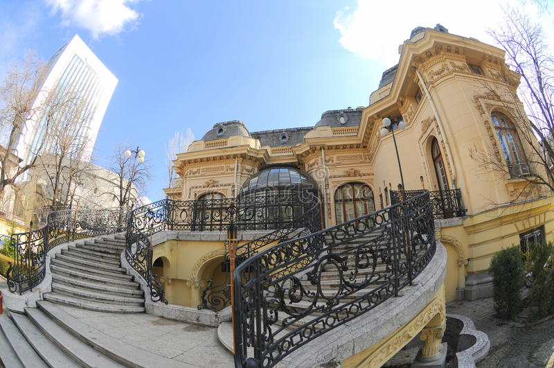 Scientists house in Bucharest stock photography